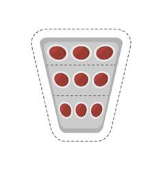 cartoon medical pills pharmacy icon vector image