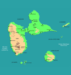 functional map of guadeloupe vector image