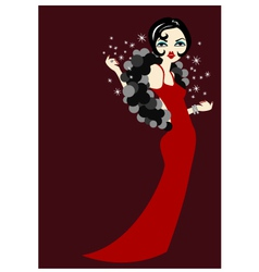 gorgeous lady vector image vector image