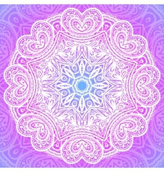 Indian ornament mandala in pink vector image vector image