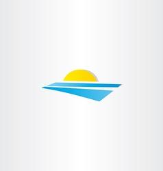 tourism summer sun water logo element vector image
