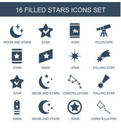 16 stars icons vector
