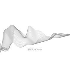 3d abstract digital wave vector