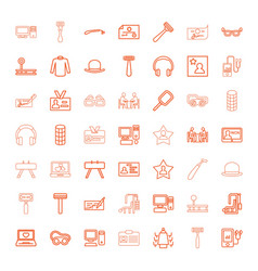 49 personal icons vector image