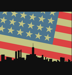 american city vector image
