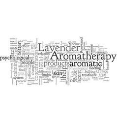Aromatherapy a scent away for great relationships vector