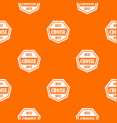 Best choise label pattern seamless vector