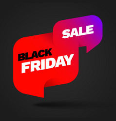 black friday sale and discount banner vector image