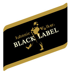 black label whiskey johny walker image vector image
