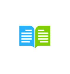 Book chat logo icon design vector