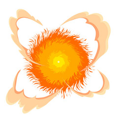 Bright explosion icon cartoon style vector