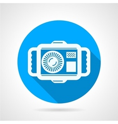 Camera flat round icon vector image