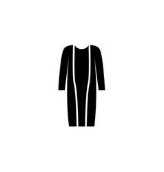 cardigan icon on white background clothing or vector image