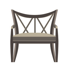 chair icon isolated view furniture design flat vector image