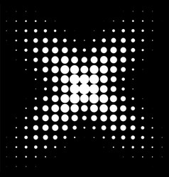 circle in halftone halftone dot pattern vector image