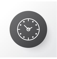 clock icon symbol premium quality isolated time vector image