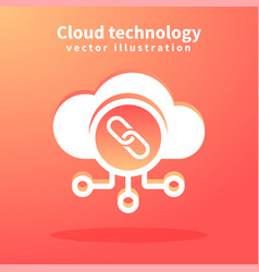 Cloud icon for web design vector