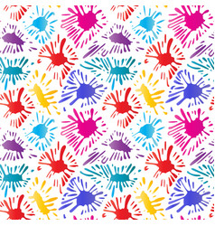 colorful blobs of paint color ink splat vector image