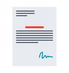 Contract or agreement vector image