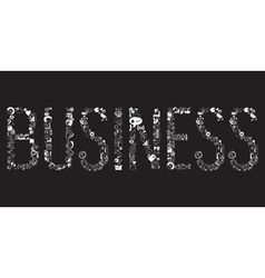 Decorative elements of the word business vector