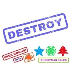 Destroy Rubber Stamp vector image