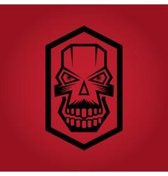 Digital skulls on red background vector