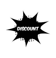 Discount template design vector