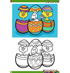 easter holiday characters coloring book page vector image