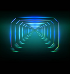endless futuristic tunnel vector image