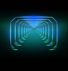 Endless futuristic tunnel vector