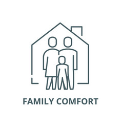 Family comfort line icon linear concept vector
