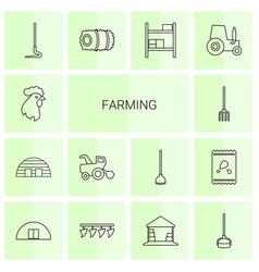 farming icons vector image