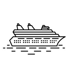 flat linear cruise liner vector image