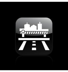 Frontier icon vector