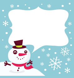 Frosty snowmans message vector
