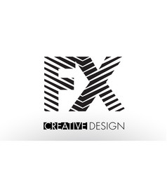 Fx f x lines letter design with creative elegant vector
