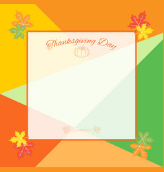 happy thanksgiving day celebration background vector image