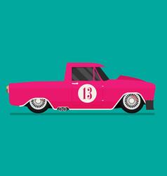 Hotrod flat old school race car vector