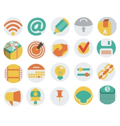 Icons in Flat Design vector