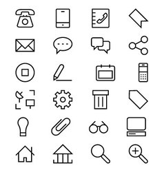Internet Line Icons 1 vector