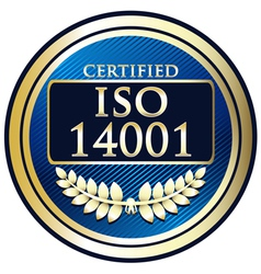 ISO 14001 vector image