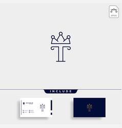 Letter t king logo template design vector