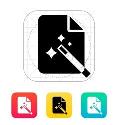Magic file icon vector