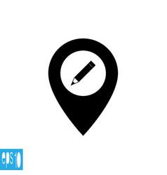 Map icon pen pencil vector