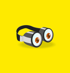 Minions goggles icon vector