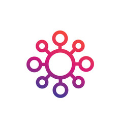 molecule icon linear style on white vector image