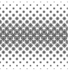 Monochrome geometric pattern - abstract floral vector