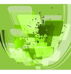 Paint splashes bouquet isolated on green backgroun vector