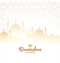 Ramadan kareem arabic festival card background vector