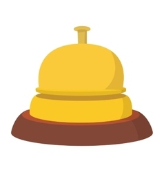 Reception bell cartoon icon vector